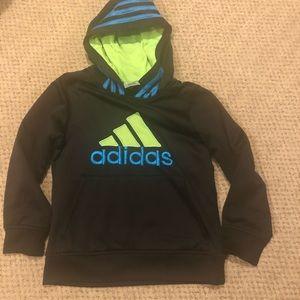 Boy's Black Adidas Hoodie-Size 7